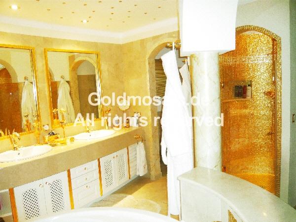 Goldmosaik 24 Karat Glasmosaik